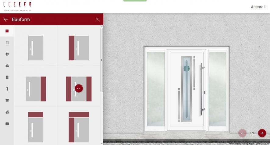 online konfigurator f r haust ren thomas t ren. Black Bedroom Furniture Sets. Home Design Ideas